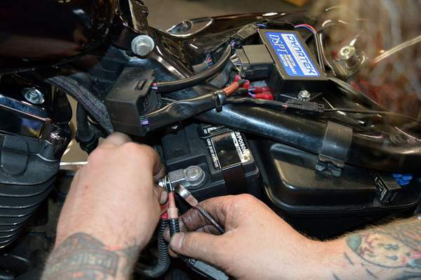 Test des systèmes de charge Harley-Davidson